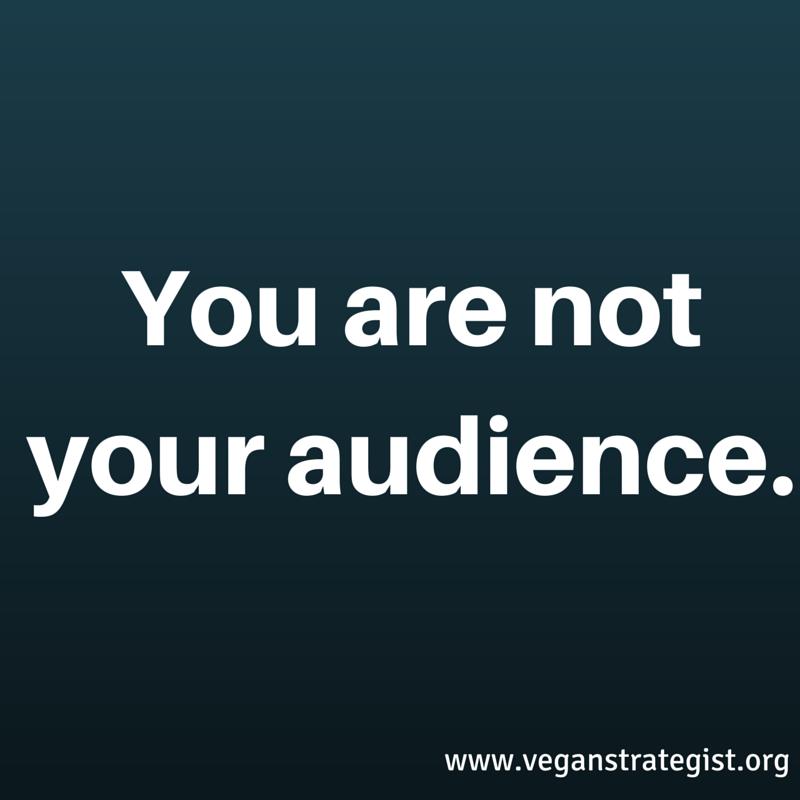 Tu não és a tua audiência